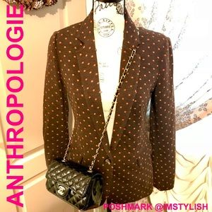 🆕 Anthropologie Cartonnier Polka Dot Blazer